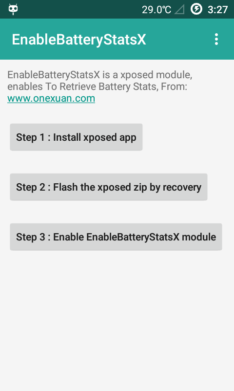 EnableBatteryStatsX- screenshot