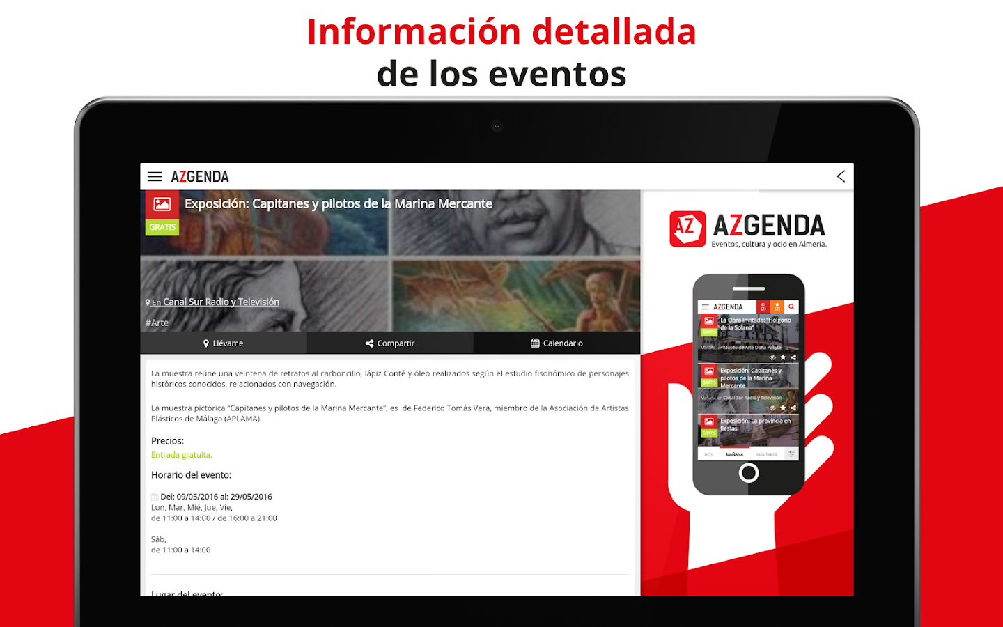 Azgenda: agenda de Almería- screenshot