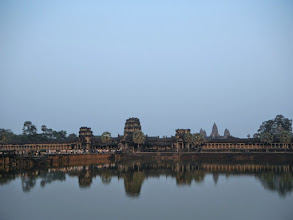 Photo: This is Angkor Wat from the other gate right before sunset.