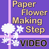 Paper Flower Making Step Video