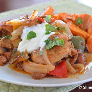 Moroccan Chicken with Roasted Sweet Potato.