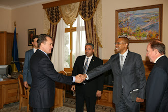Photo: Meeting Volodymyr Semynozhenko, Chair of the Parliament Committee on Sciences and Technology.