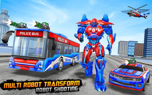 Bus Robot Car Transform War u2013Police Robot games apkdebit screenshots 15