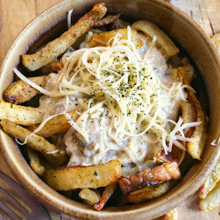 French Fries with Mushroom Gravy