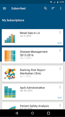SAS Mobile BI - screenshot