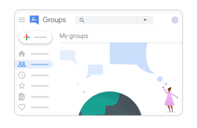 New Google Groups home page