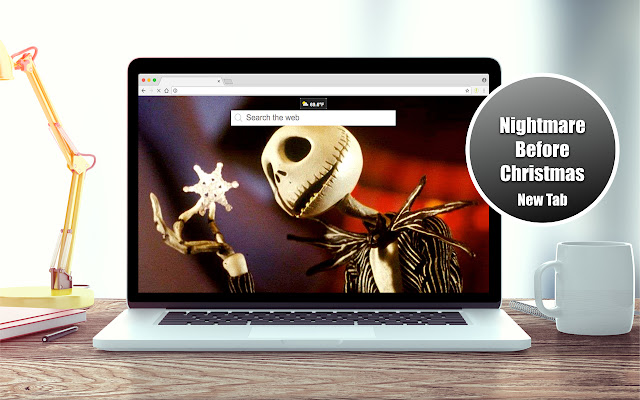 HD Nightmare Before Christmas New Tab Theme