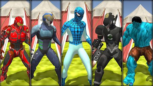 super hero water slide uphill rush  screenshots 2