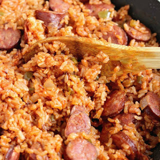 One-Pot Sausage and Red Rice.