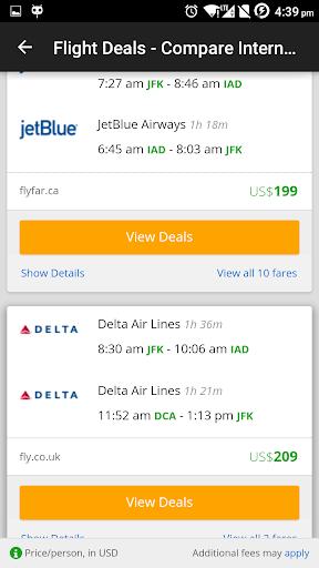 Fly Smart - Flight Finder  screenshots 3