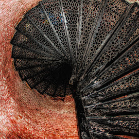Up Or Down by Dave Walters - Buildings & Architecture Architectural Detail ( bricks, pensacola lighthouse, building, architecture )