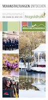 Das Titelbild des Veranstaltungskalenders Nagoldtal mit den besten Veranstaltungen von Januar bis März