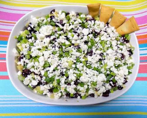 """Nine Layer Greek Dip""""By chance I ran across a recipe for a..."""
