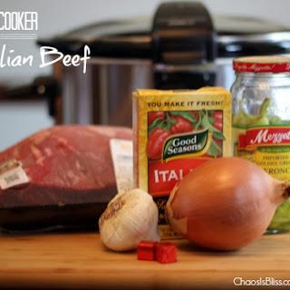 Slow Cooker Italian Beef Sandwiches.