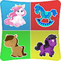 Pony Match Memory Games Kids icon