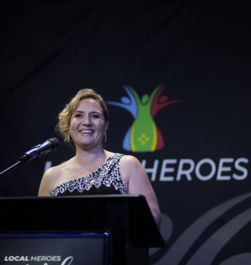 Elaine Brenkman of Guardians of Hope at Local Heroes 2017