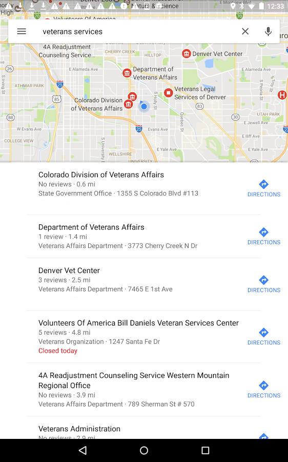 Veterans In Crisis- screenshot