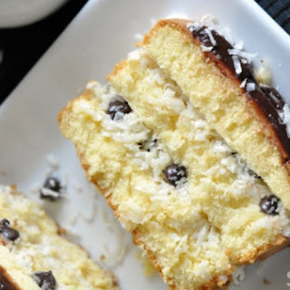 Coconut-Chocolate Chip Layered Pound Cake