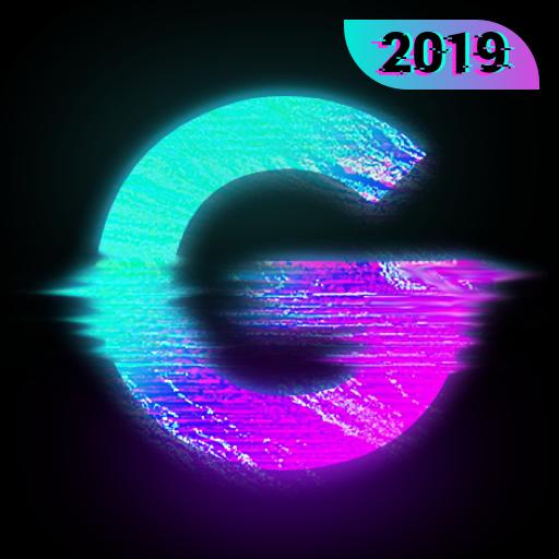 Glitch Photo Editor - glitch effect, vaporwave Icon