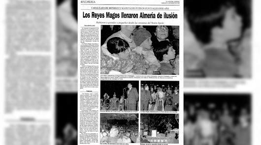 Los Reyes Magos llegan en barco a Almería en 1995