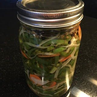 Delicious Pickled Jalapeños.