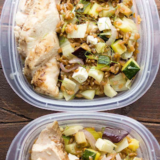 Mediterranean Chicken Farro Lunch Bowl
