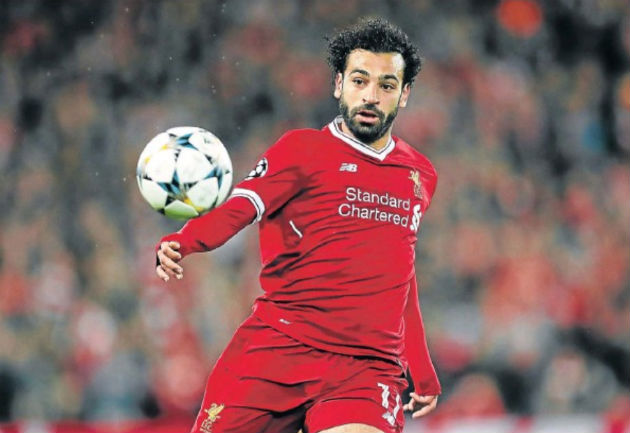 Mohamed Salah of Liverpool during their Uefa Champions League semifinal first leg match against AS Roma at Anfield