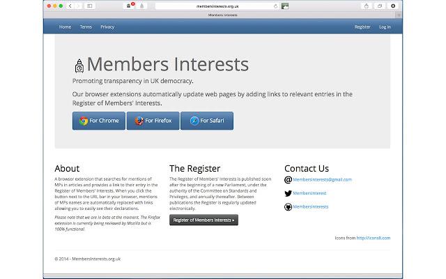 Members Interests