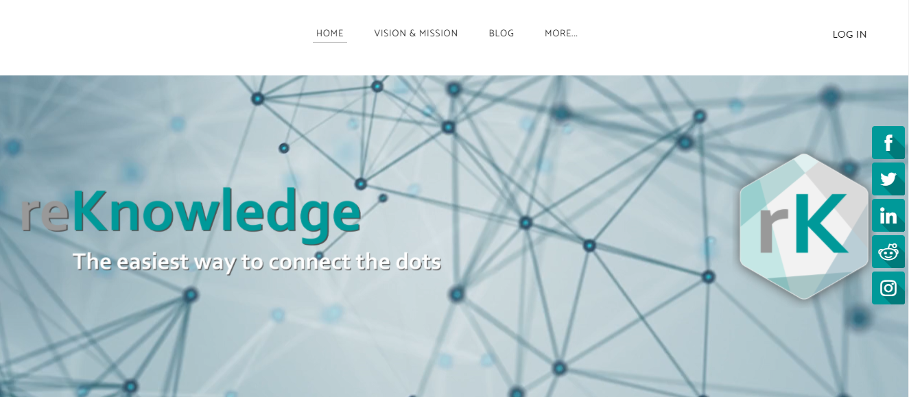 reKnowledge startup home page