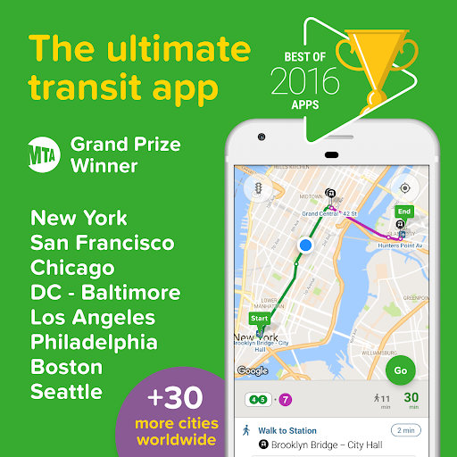 Citymapper - Real Time Transit screenshot 1