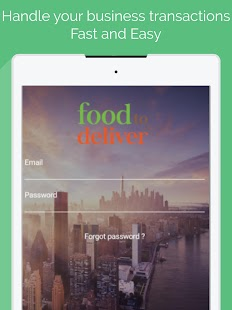 Food To Deliver Merchant App - náhled