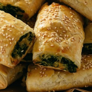 Tasty Vegetarian Spinach And Ricotta Rolls.
