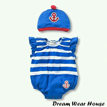 BP0152 水手造型夏季全棉背心連身衣連帽@95碼