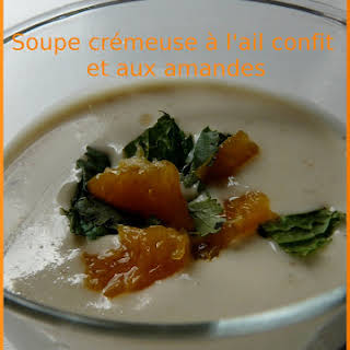 Creamy Roasted Garlic and Almond Soup.