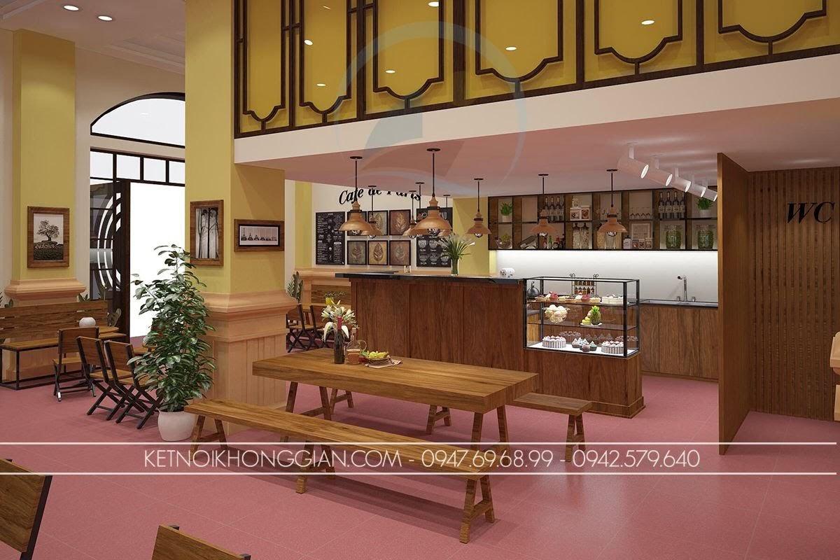 thiết kế quán cafe ấn tượng