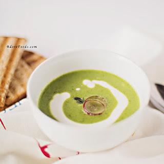 Roasted Creamy Asparagus Soup.