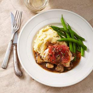 Prosciutto-Wrapped Chicken with Mushroom Marsala Sauce for Two.