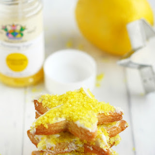 Frosted Lemon Sugar Cookie Stars.