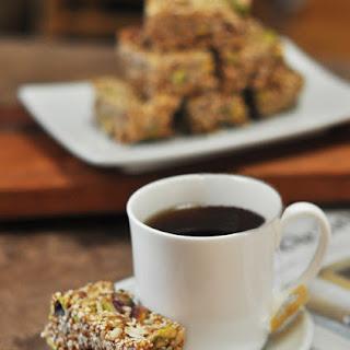 Pistachio Sesame or Pecan Butter Tart Granola Bars