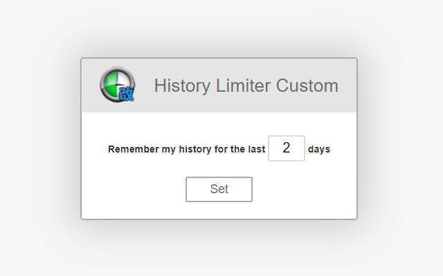 History Limiter Custom