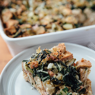 Swiss Chard and Sausage Bread Pudding.