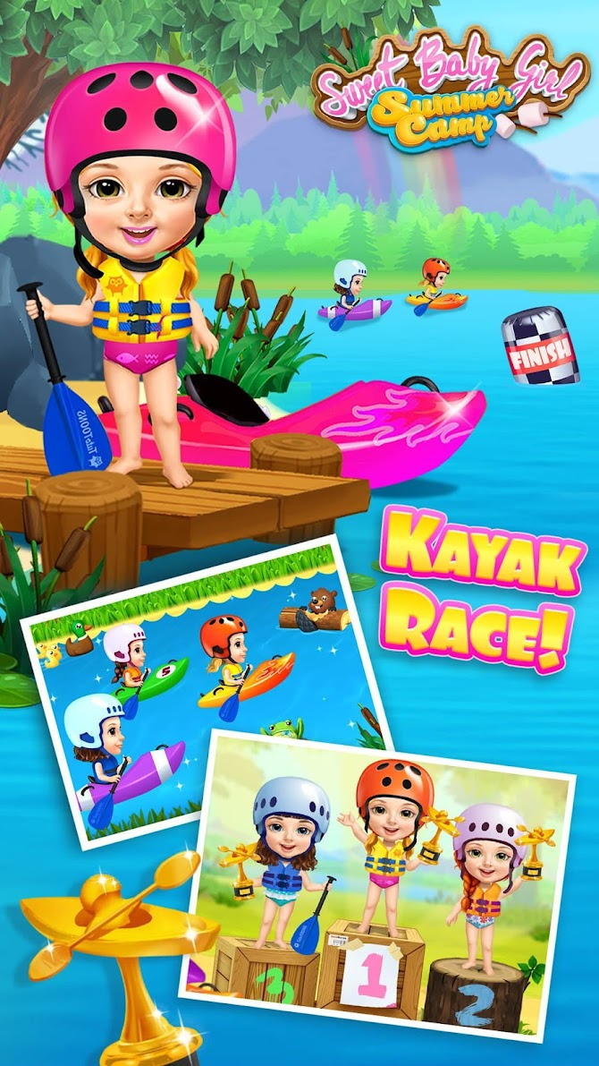 Sweet Baby Girl Summer Camp - Kids Camping Club Android 5