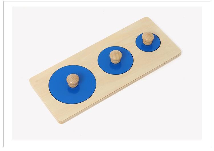 puzzle cercle rond trio jeu en bois activité montessori premier age