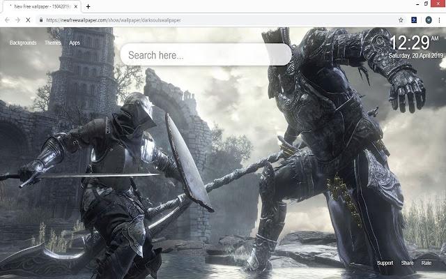 Dark Souls new tab wallpaper
