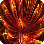 Bright abstract flower LWP