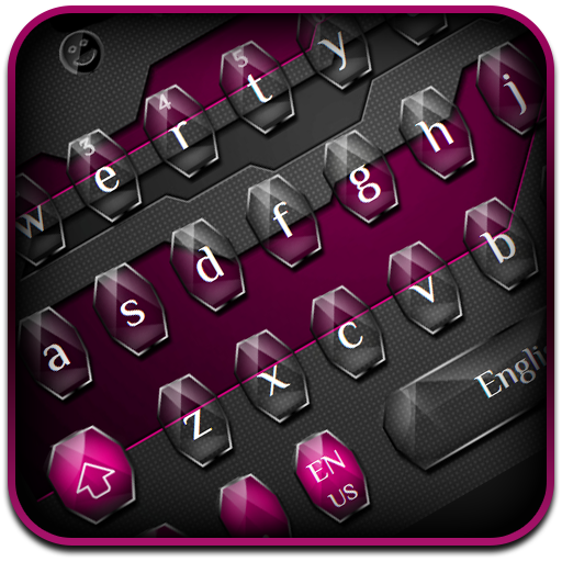 Bright Metal Black Pink Keyboard