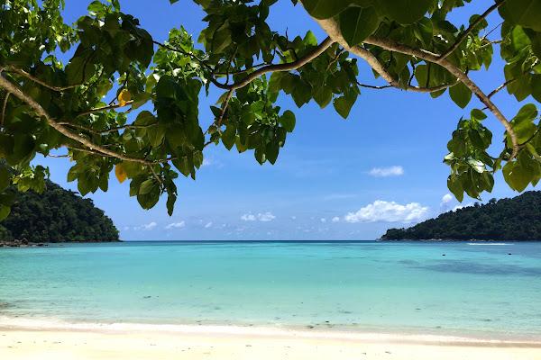 Relax at white sand beach of Ao Mae Yai