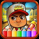 coloring subway jack of surf game APK