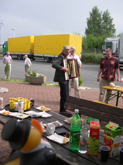 Photo: polish people at a rest stop