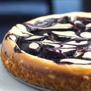 Blueberry Swirl Cheesecake